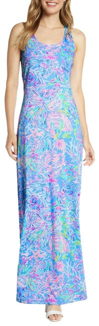 Item - Blue/Pink/White Treena All Together Now Long Casual Maxi Dress Size 2 (XS)