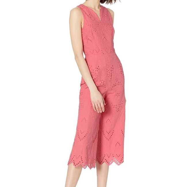 Item - Cosmo Pink Flame Embroidered Eyelet Romper/Jumpsuit