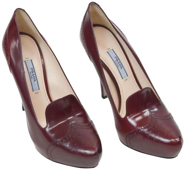 Item - Maroon Leather Stiletto Formal Shoes Size US 6 Regular (M, B)