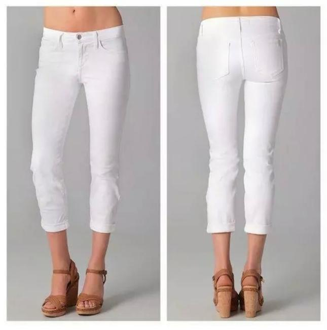 Item - White Light Wash Socialite Kicker Capri/Cropped Jeans Size 2 (XS, 26)