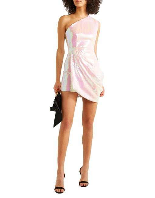 Item - White Holographic One Shoulder In Short Night Out Dress Size 0 (XS)