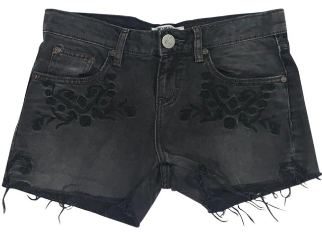 Item - Black Gray Denim Jean Embroider New Without Tags 26 Shorts Size 2 (XS, 26)