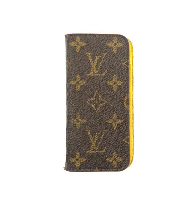 Item - Brown and Yellow Monogram Canvas Leather Iphone 7 8 Folio Case