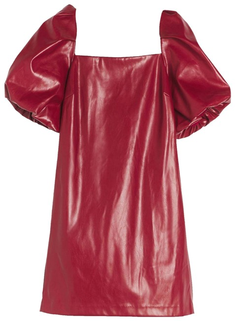 Item - Wine Red Greer Faux Leather Mini Short Cocktail Dress Size 8 (M)