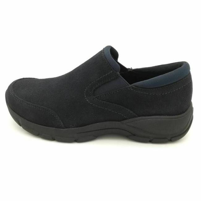 Item - Blue Womens All Weather Slip On Leather Suede Moc Toe Wedges Size US 10 Regular (M, B)