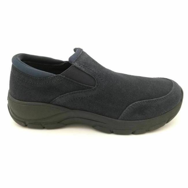 Item - Blue Womens All Weather Moccasins Suede Slip On Moc T Wedges Size US 8 Wide (C, D)