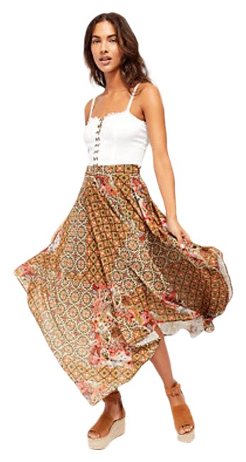 Item - Brown Stay Awhile Mosaic Skirt Size 2 (XS, 26)