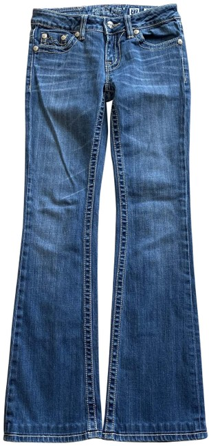 Item - Blue Hemmed Sunny-boot Denim Actual W27.5 X I 31 3/4 Boot Cut Jeans Size 27 (4, S)