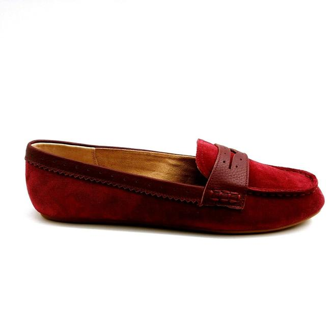Item - Wine Womens Suede Lightweight Penny Loafer Comfort Step Wi Flats Size US 8.5 (C, D)