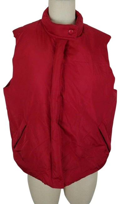 Item - Red Vintage Zip Up Goose Down Nylon Quilted Puffer Womens Vest Size 16 (XL, Plus 0x)