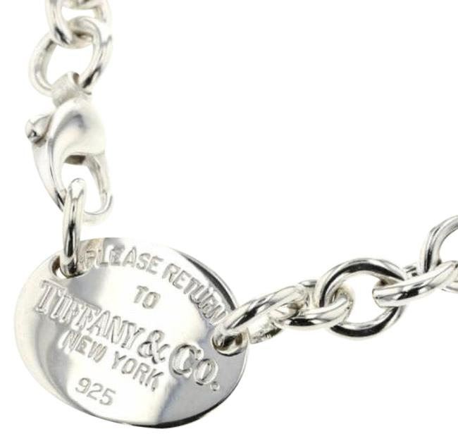 Item - Silver Oval Return To Necklace