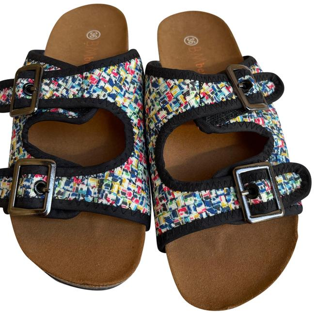 Item - Pixel Sunset Slide Sandals Size US 6 Regular (M, B)