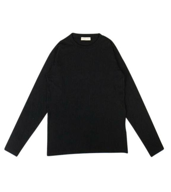 Item - Black Cotton Crewneck T-shirt 2/38 Activewear Top Size 2 (XS)