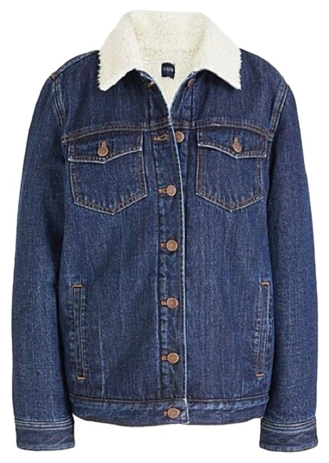 Item - Blue Women's Sherpa Lined Jean Jacket Size 10 (M)