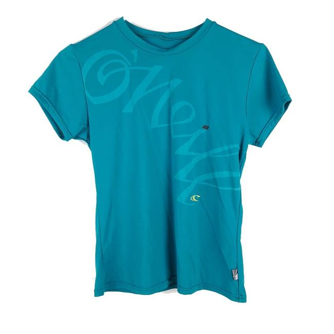 Item - Green Womens Teal Lycra Uv Protective Small Tee Shirt Size 6 (S)