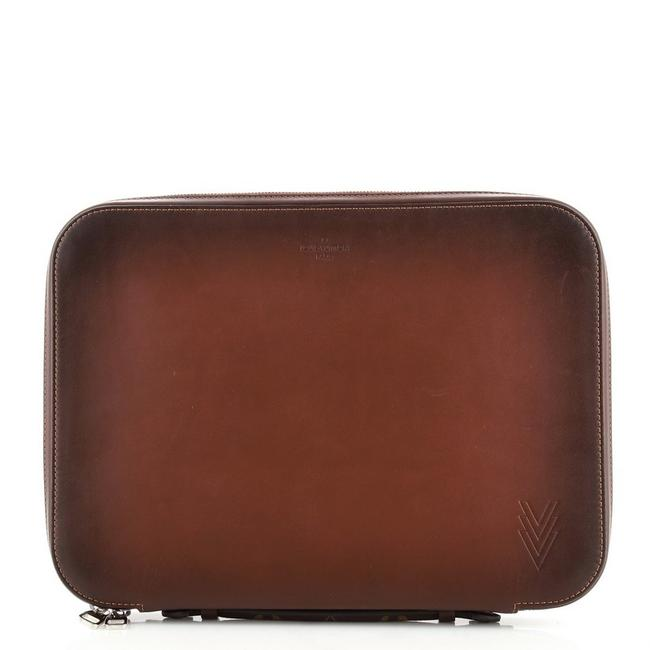 Item - Dandy Ombre Compact Sleeve Calfskin Brown Leather Laptop Bag