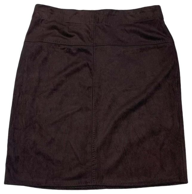 Item - Brown Java Faux Suede Pencil Small Skirt Size 6 (S, 28)