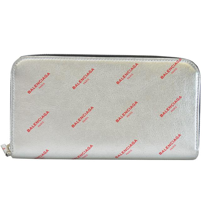Item - Black / Red Color Round Zipper Silver Leather Women's Men's 485144.8165.a.203437 Wallet