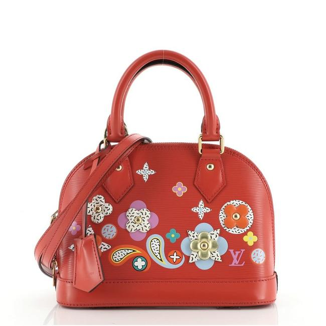 Item - Alma Handbag Limited Edition Floral Patchwork Bb Red Leather Cross Body Bag