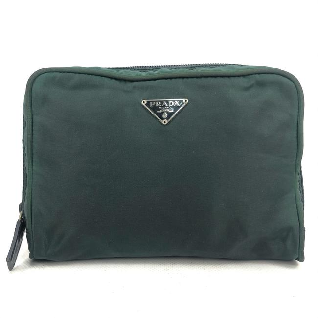 Item - Green W Womens Nylon Pouch / / Toilet Logo Cosmetic Bag