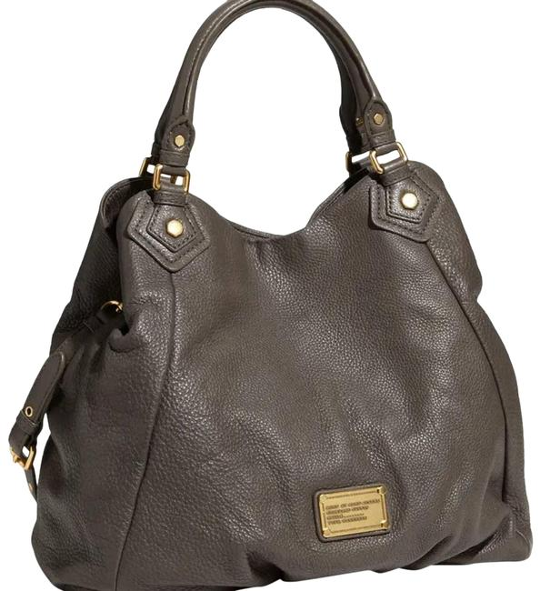 Item - Francesca' Q Leather Purse Gray Cross Body Bag