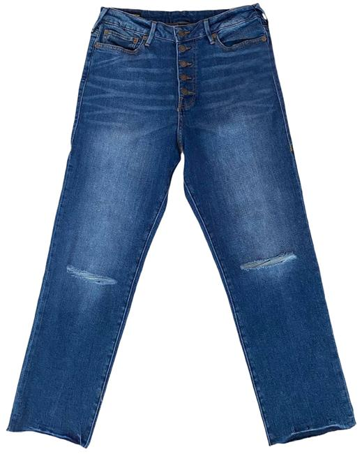 "Item - Blue W New W/Tags ""Starr"" High Rise Button Fly Cropped Boyfriend Cut Jeans Size 32 (8, M)"