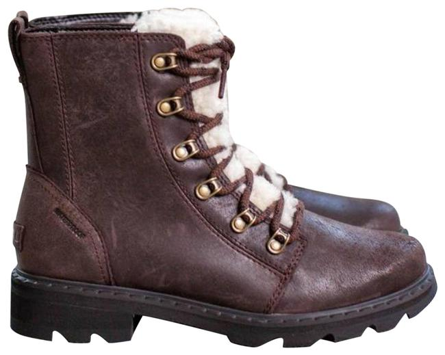 Item - Brown Lennox Lace-up Shearling Trim Boots/Booties Size US 6 Regular (M, B)