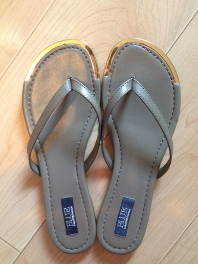 BLUE SAKS 5th AVE Taupe & Gold tone Sandals Image 1