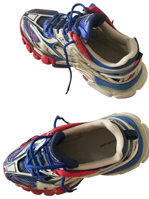 Item - Red Blue and Beige Track 2 Open Sneakers Size EU 39 (Approx. US 9) Regular (M, B)