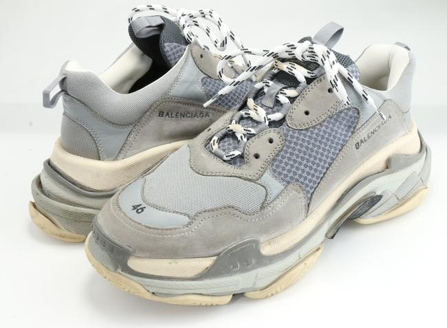 Item - Gray Triple S Sneakers Shoes