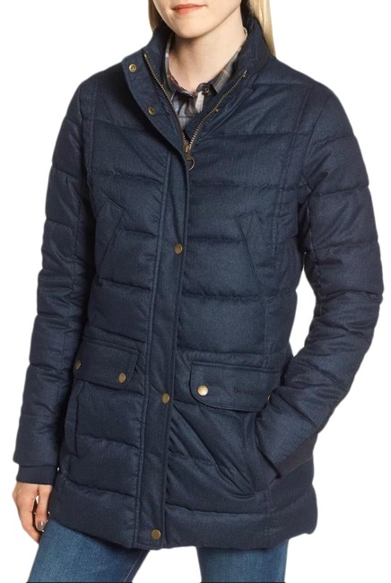 Item - Navy Goldfinch Quilted Jacket Coat Size 8 (M)