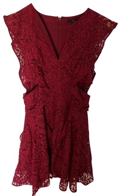 Item - Red/Maroon Rn80734 Short Cocktail Dress Size 2 (XS)
