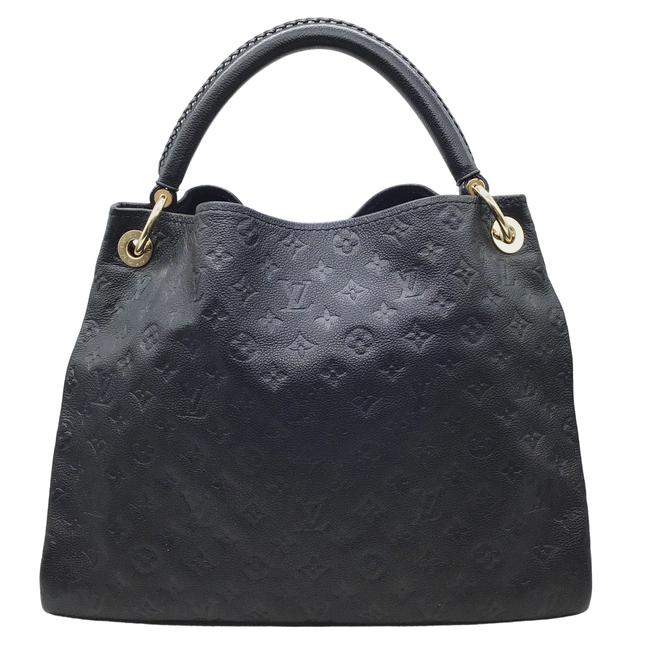 Item - Artsy Empreinte Navy Shoulder Bag