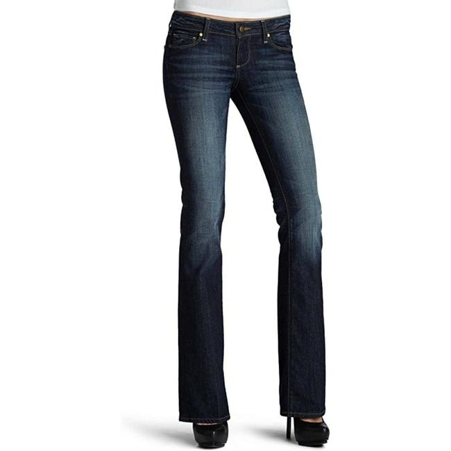 Item - Blue Medium Wash Laurel Canyon Low Rise Bootcut/Flare - Boot Cut Jeans Size 24 (0, XS)
