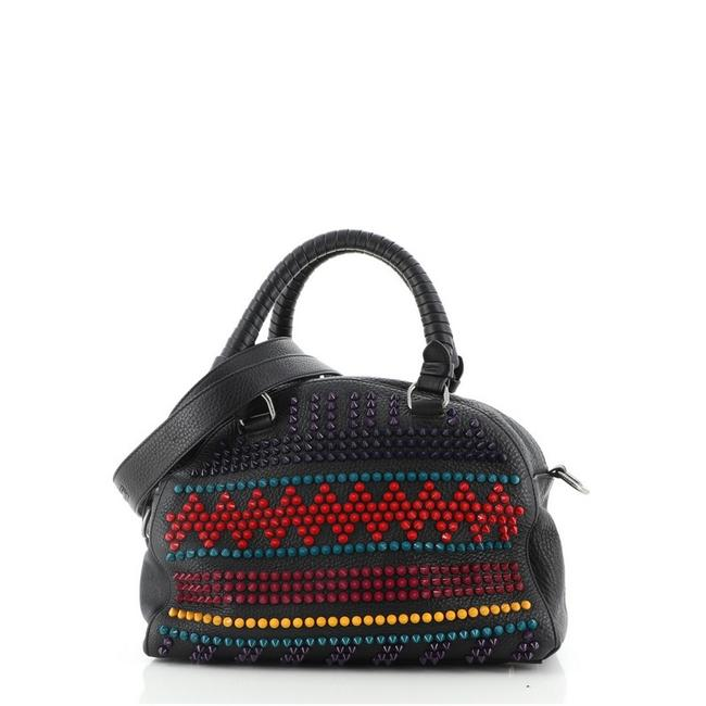 Item - Panettone Convertible Spiked Small Multicolor Leather Satchel