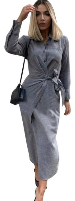 Item - Gray Limited Edition Shirt Long Casual Maxi Dress Size 6 (S)