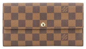 Louis Vuitton Louis Vuitton Damier Ebene Portefeuille Sarah Wallet (Authentic Pre Owned)