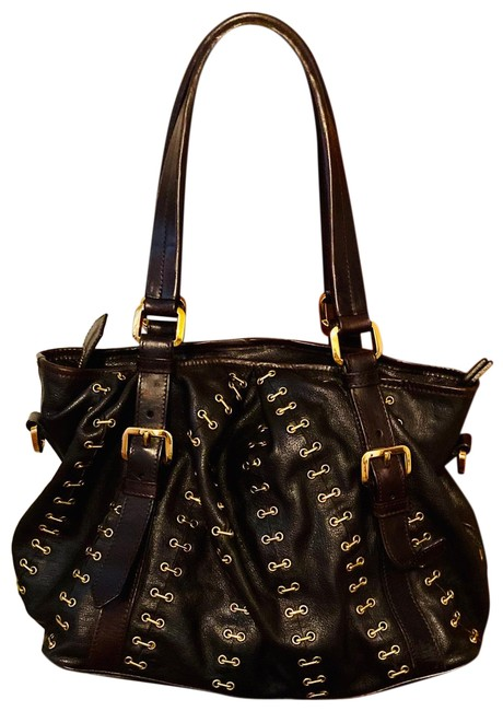 Item - Lowry Prorsum Metal Stich Brown Leather Hobo Bag