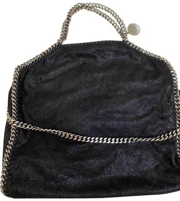 Item - Shaggy Deer Foldover Falabella Black Faux Leather Tote