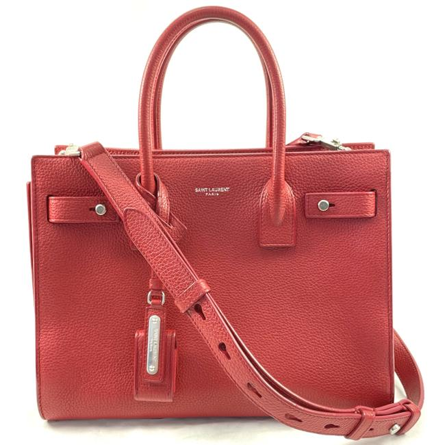 Item - Sac de Jour Shoulder With Long Strap Red Leather Cross Body Bag