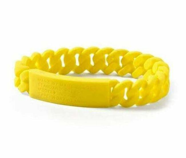 Item - Yellow Electric Supply Braided Silicone Rubber Bracelet