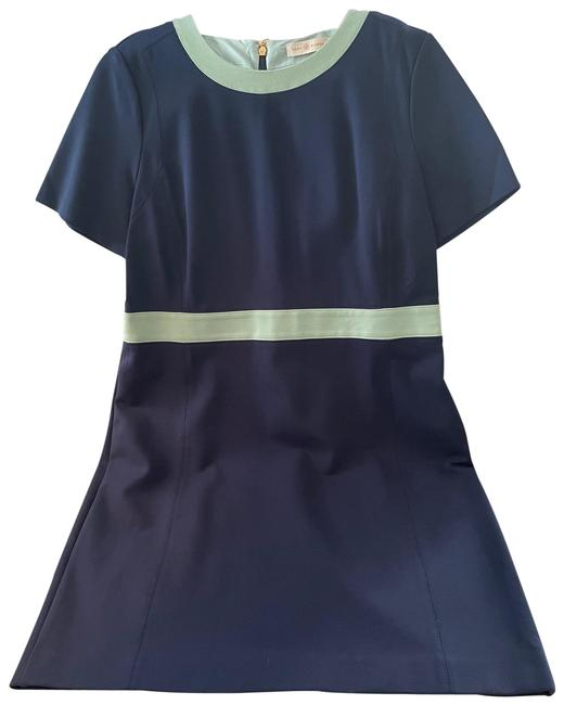 Item - Color Block Ponte In Navy Color Work/Office Dress Size 16 (XL, Plus 0x)