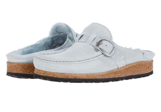 Item - Dusty Teal Buckley Shearling Mules/Slides Size US 6 Narrow (Aa, N)