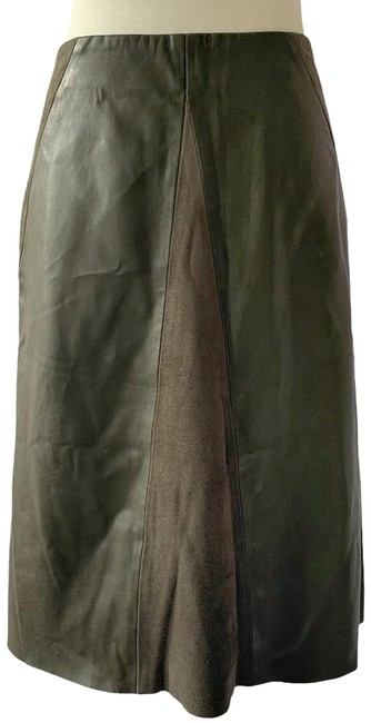 Item - Green Faux Leather and Suede Skirt Size 8 (M, 29, 30)