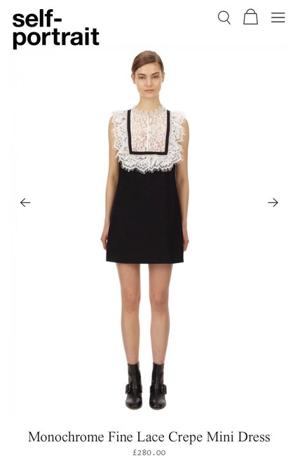 Item - White/Black Style: Aw20-153 Short Casual Dress Size 2 (XS)