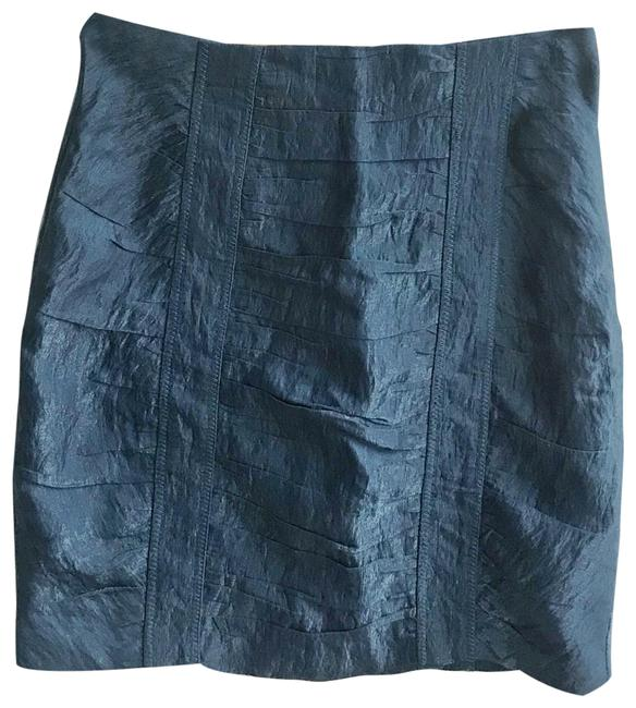 Item - Blue Shimmery Ruched Skirt Size 0 (XS, 25)