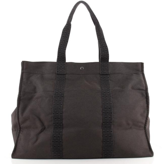 Item - Fourre Tout Tgm Black and Brown Canvas Tote