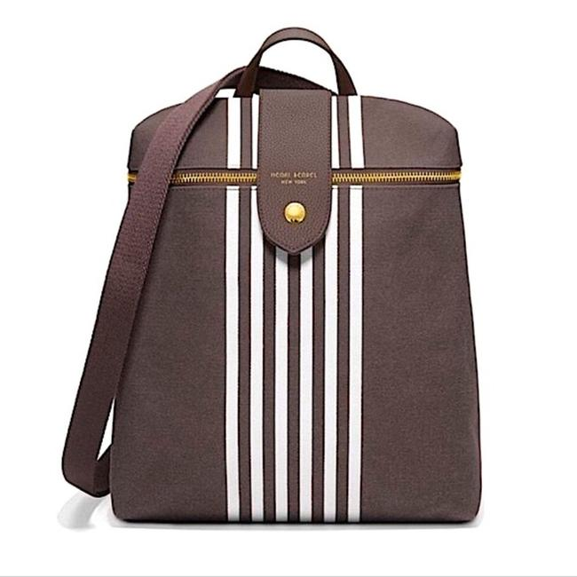 Item - Crossbody Convertible Brown Canvas Backpack