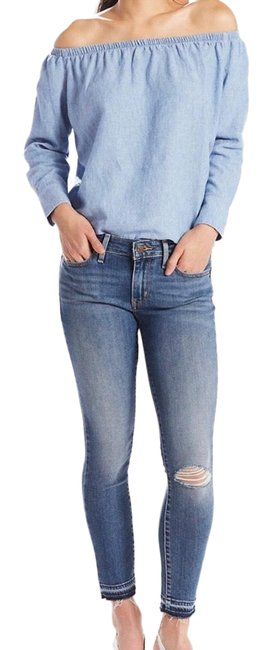 Item - Medium Wash 711 Ankle Ripped Skinny Jeans Size 6 (S, 28)