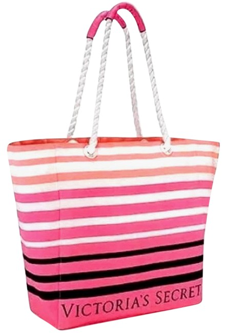 Item - Tote New 2017 Limited Edition Pink White Black Canvas Beach Bag